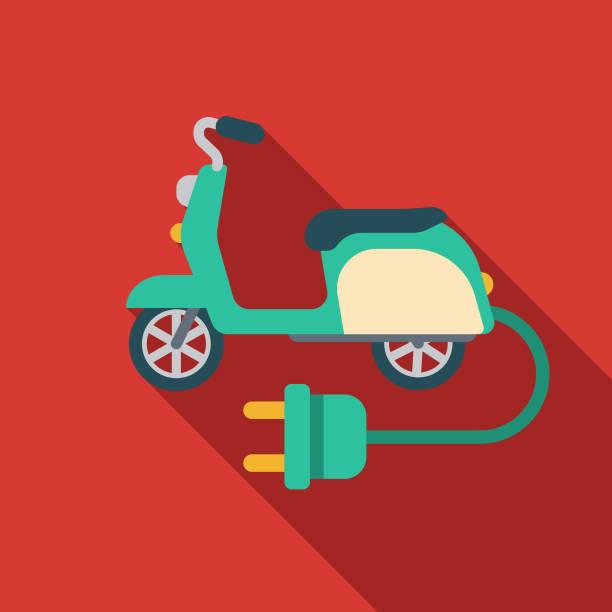 illustrazioni stock, clip art, cartoni animati e icone di tendenza di electric scooter icon - monopattino elettrico