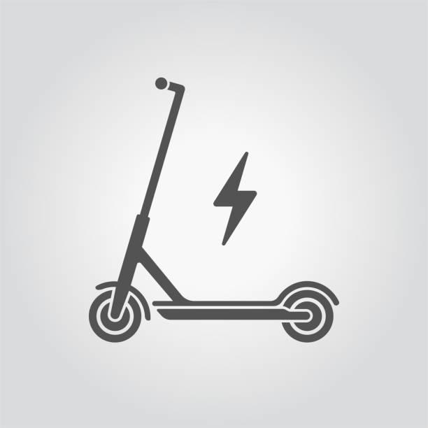 illustrazioni stock, clip art, cartoni animati e icone di tendenza di electric scooter icon. - monopattino elettrico