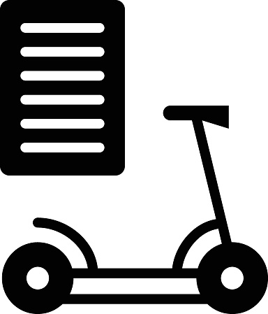 Electric Scooter Manual Concept, Read Me Booklet Vector Icon Design, Green transport Symbol on white background, eco Motorized scooter Sign,