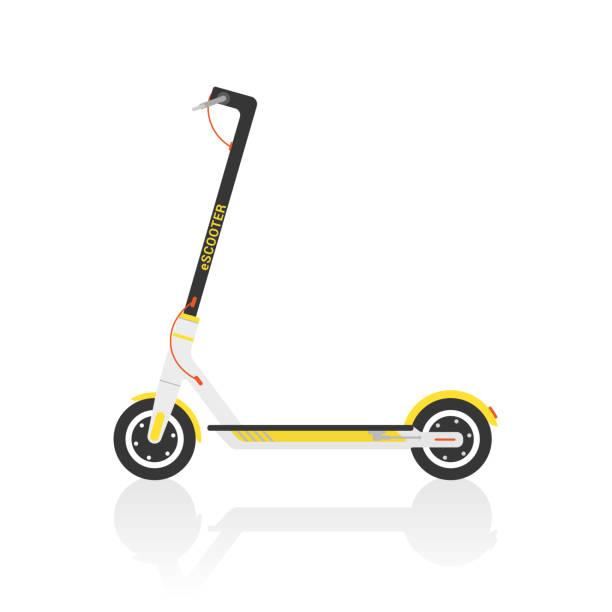 illustrazioni stock, clip art, cartoni animati e icone di tendenza di electric scooter - monopattino elettrico