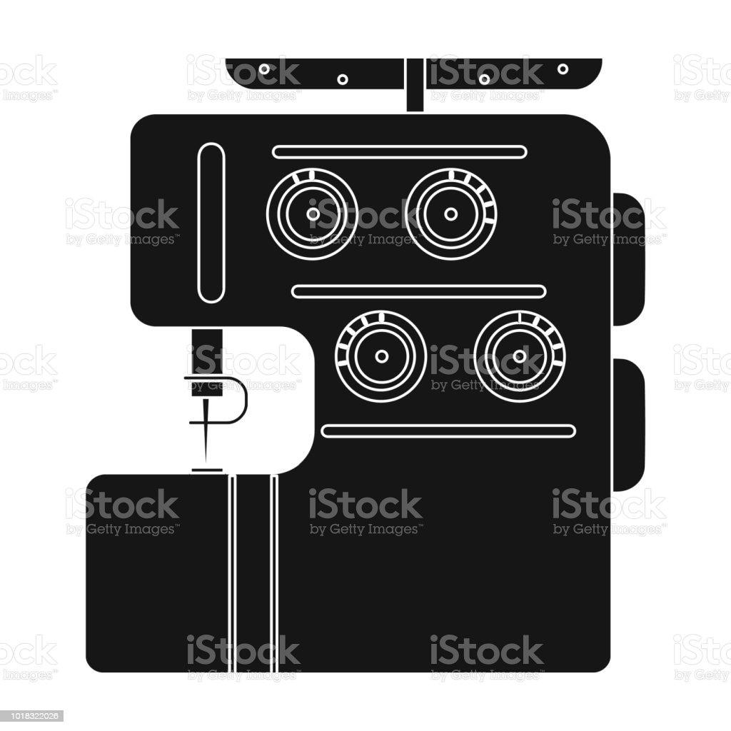 Ilustración de Máquina De Coser Eléctrica Overlock Coser Y Equipo ...