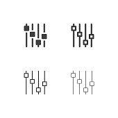 Electric Sound Effect Icons Multi Series Vector EPS File.
