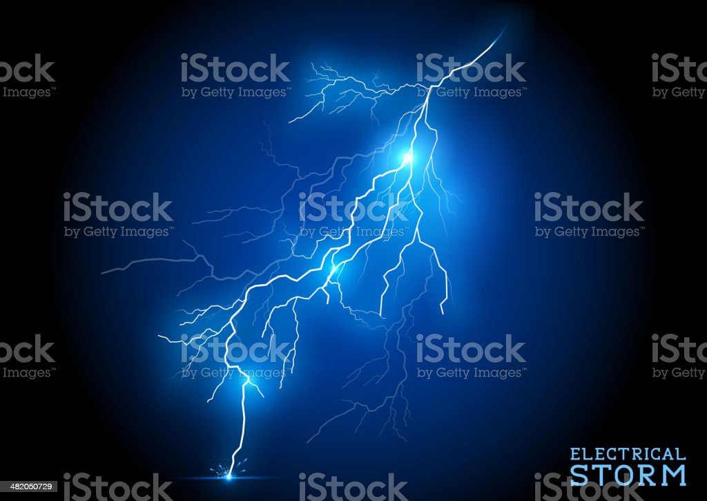 Electric Storm vector art illustration