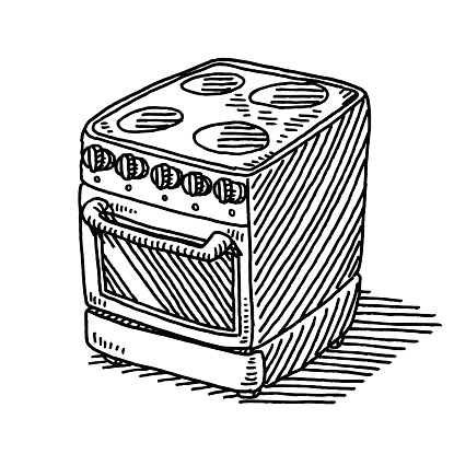 Electric Stove Household Appliance Drawing