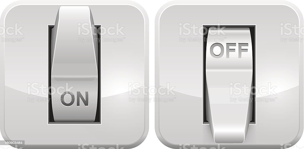 Electric switch icon vector art illustration