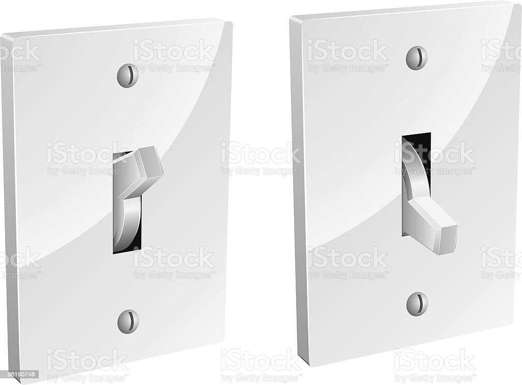 Electric switch royalty-free stock vector art
