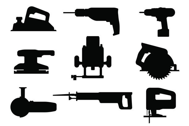 Best Circular Saw Illustrations, Royalty-Free Vector