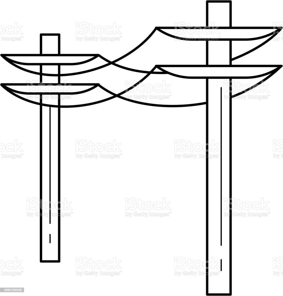 Elektrische Turm Vektor Liniensymbol Stock Vektor Art und mehr ...