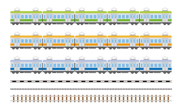 電車車の簡単な図 - 電車点のイラスト素材/クリップアート素材/マンガ素材/アイコン素材