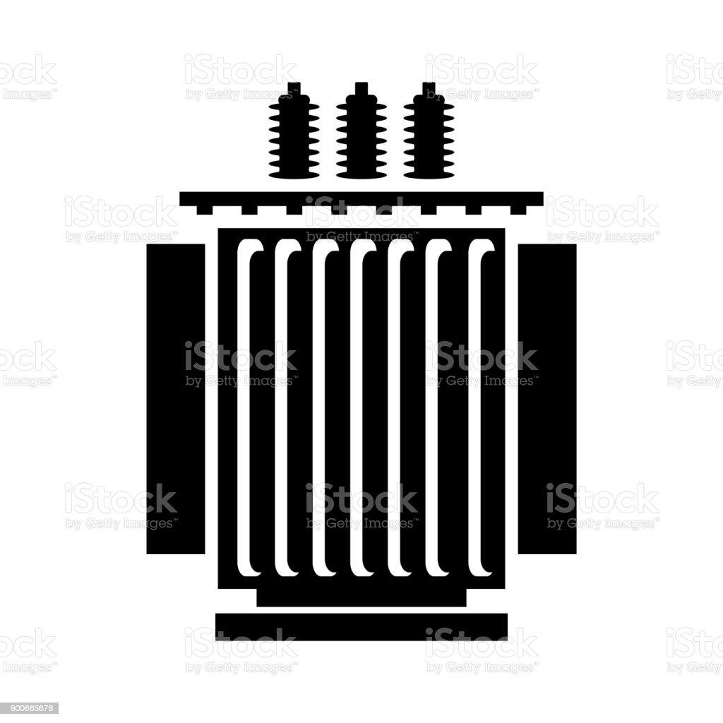 Elektrischen Transformatorsymbol Stock Vektor Art und mehr Bilder ...
