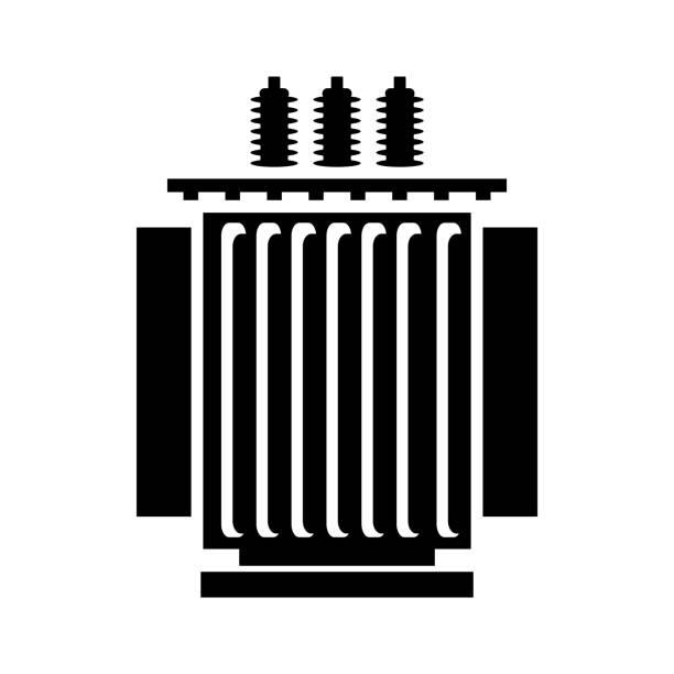 Electric transformer icon Vector illustration. transformer stock illustrations