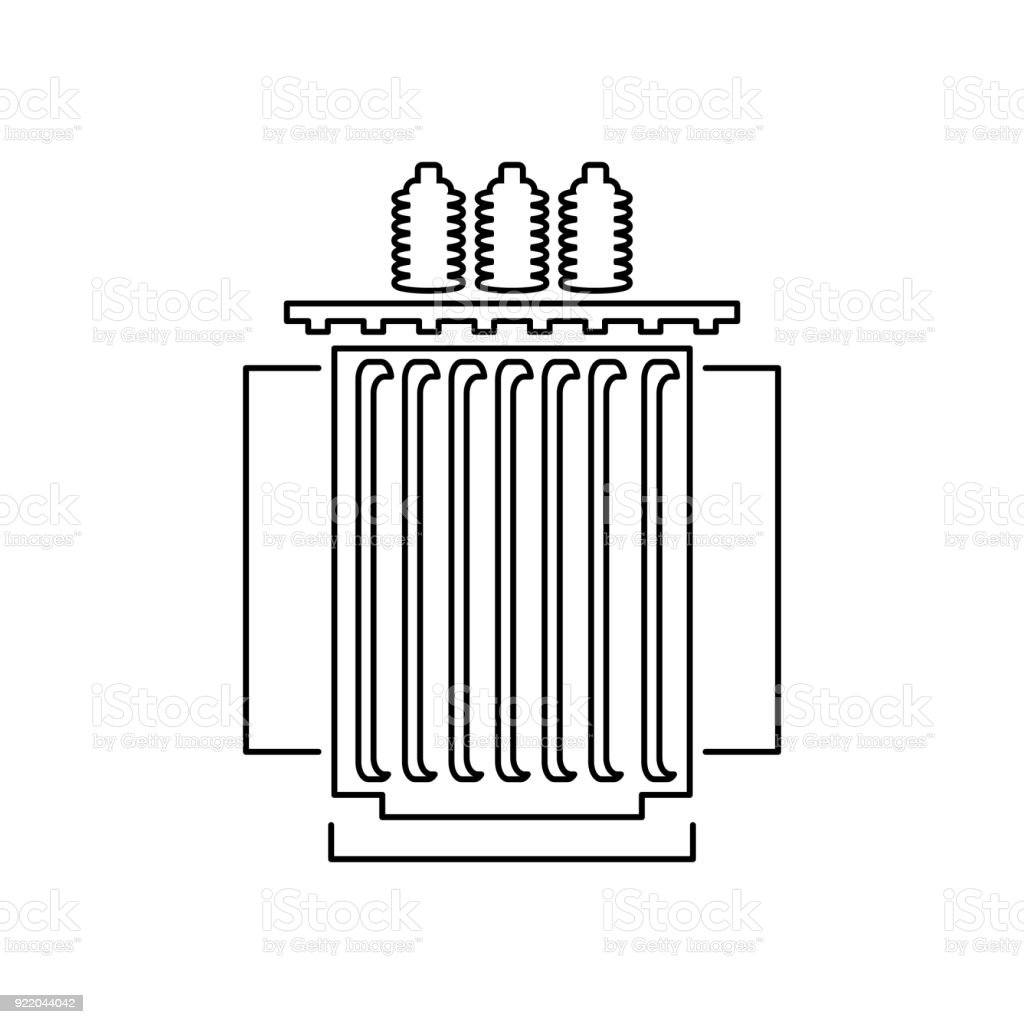 Elektrische Transformatoren Symbol Vektorillustration Stock Vektor ...