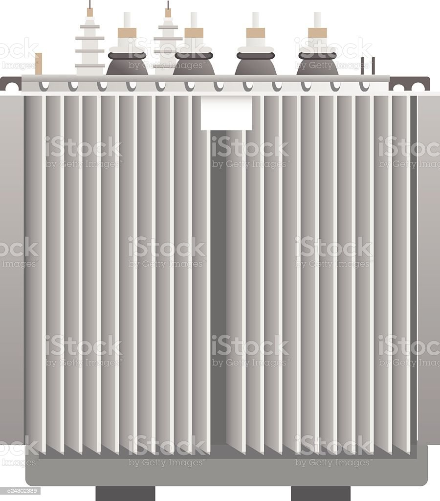 Electric transformer vector art illustration