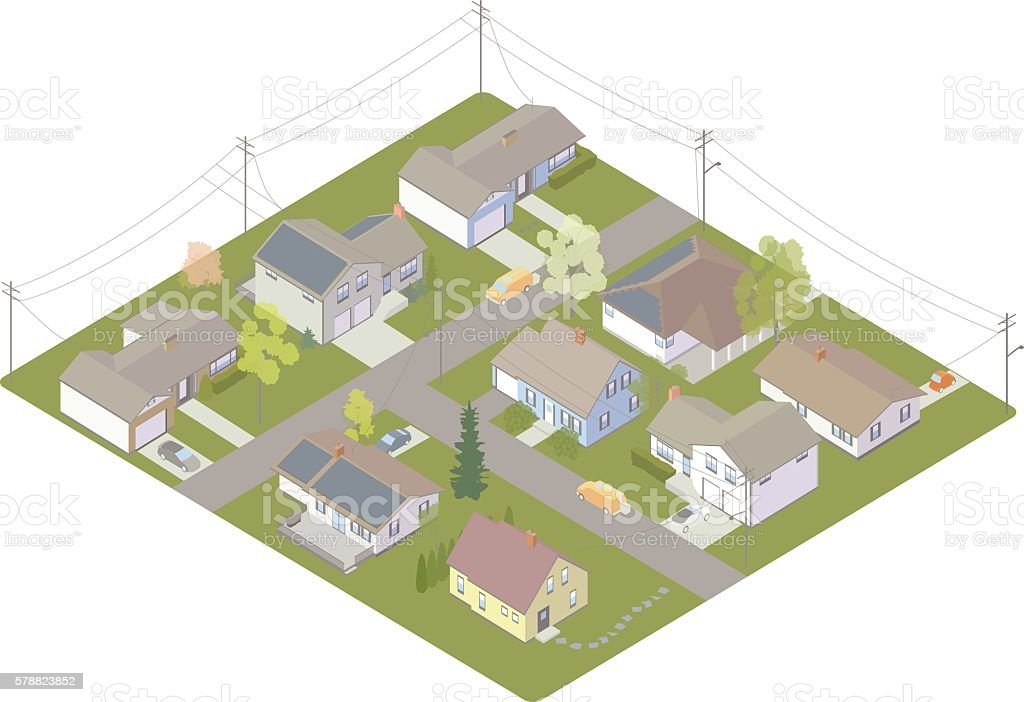 Electric Utility Customers Vektor Illustration 578823852 | iStock