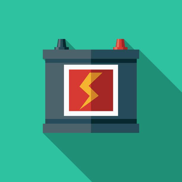 電気自動車のバッテリ アイコン - 車のバッテリー点のイラスト素材/クリップアート素材/マンガ素材/アイコン素材