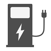 istock electric vehicle charging station on white background. EV charge point for electric vehicles. flat style. Electric car charge station icon for your web site design, logo, app, UI. 1022964484