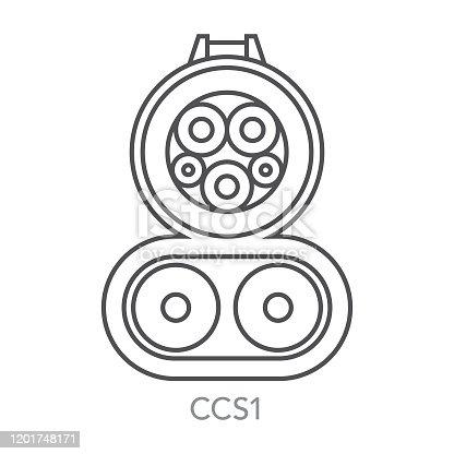 istock CCS1 Electric Vehicle Plug Icon 1201748171