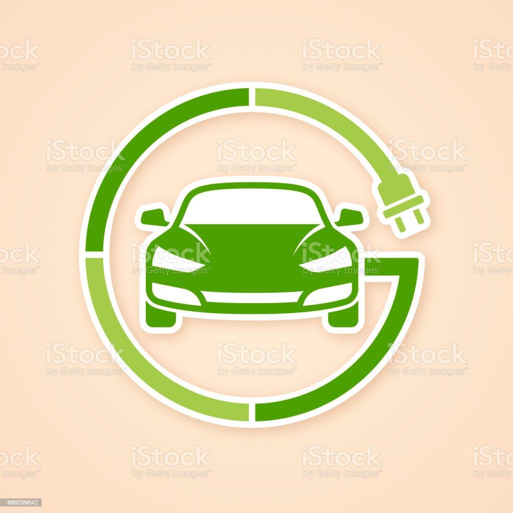Electric Vehicle Symbol vector art illustration
