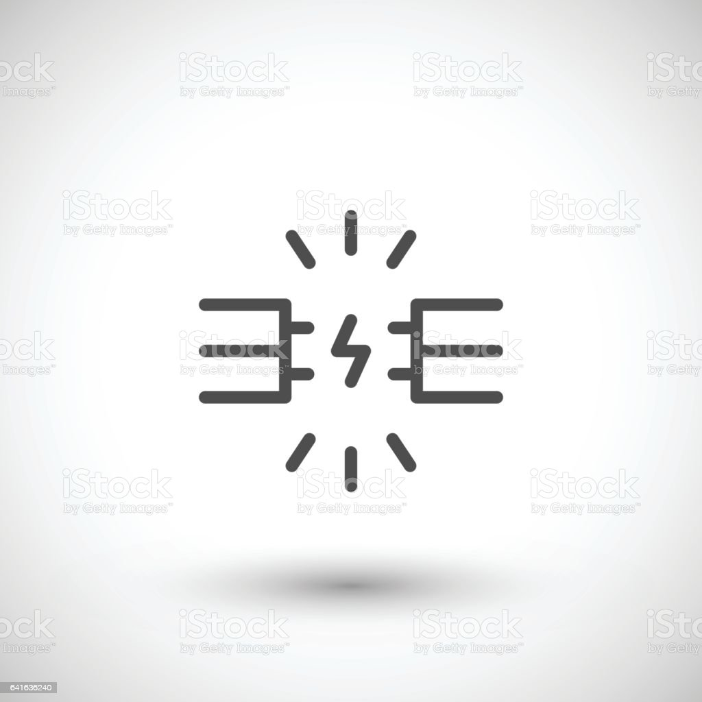 Electric Wire Line Icon Stock Vector Art & More Images of Black And ...