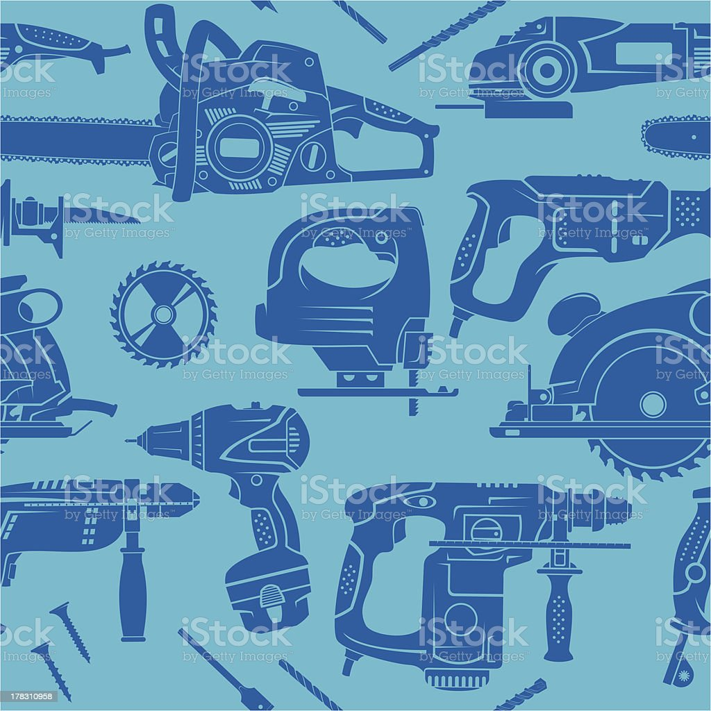 Electric working tools seamless background royalty-free electric working tools seamless background stock vector art & more images of backgrounds