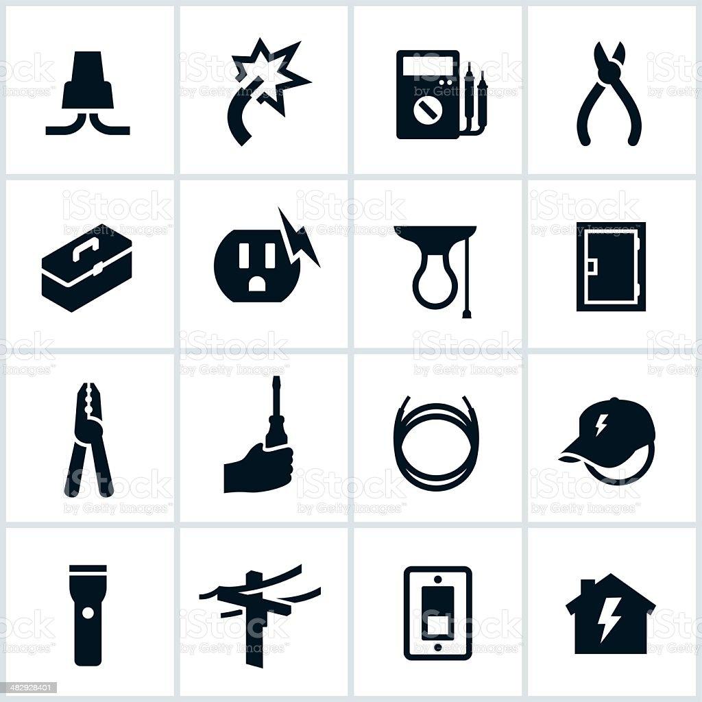 Elektrische Und Elektriker Symbole Stock Vektor Art und mehr Bilder ...