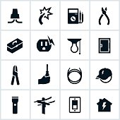 Electrical and Electrician Icons