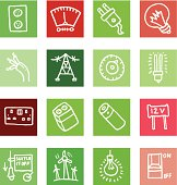 Electrical block icons icon set