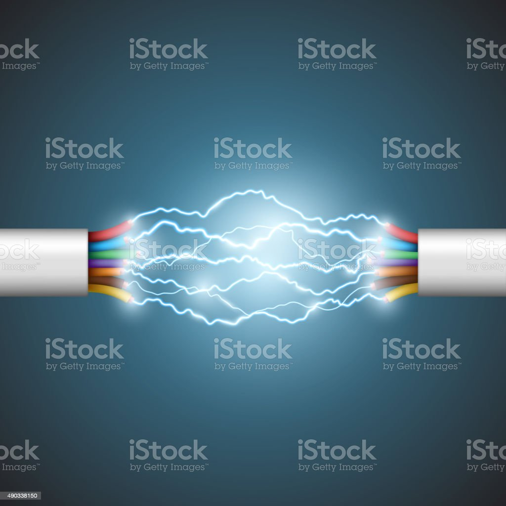Electrical circuit. vector art illustration