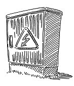 Electrical Connection Box High Voltage Sign Drawing