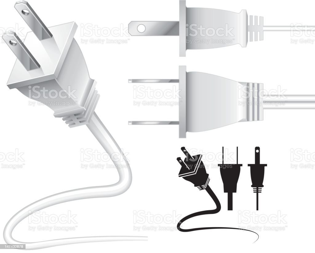 Electrical cord/plug royalty-free stock vector art
