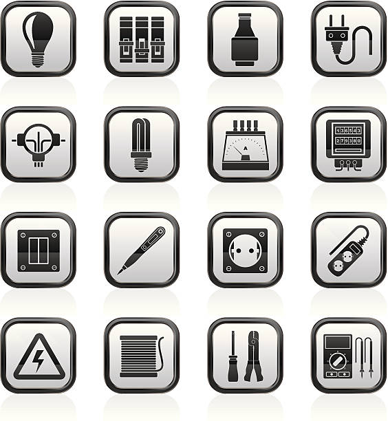 Electrical Fuse Clip Art Vector Images Illustrations iStock – Icons Fuse Box