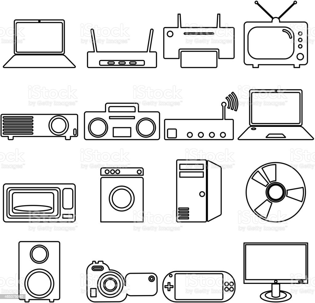 Electrical Devices Symbols Stock Vector Art & More Images of 2015 ...