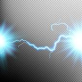 Electrical discharge. Lightning. EPS 10