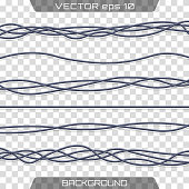 Electric cables.Realistic electrical gray industrial wires. Wire connection, cable electric power, connect electricity illustration.