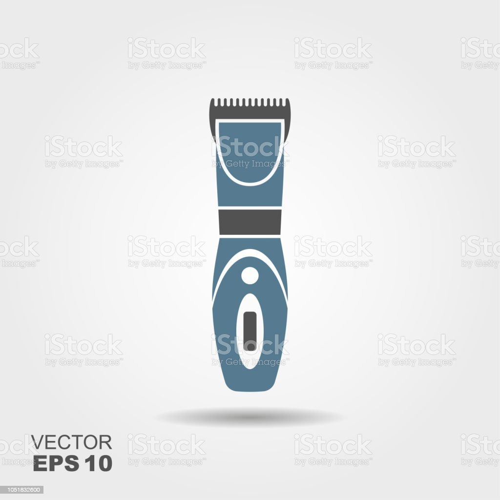 Cabelo elétrica tesoura ou máquina de barbear ilustração vetorial. - ilustração de arte em vetor