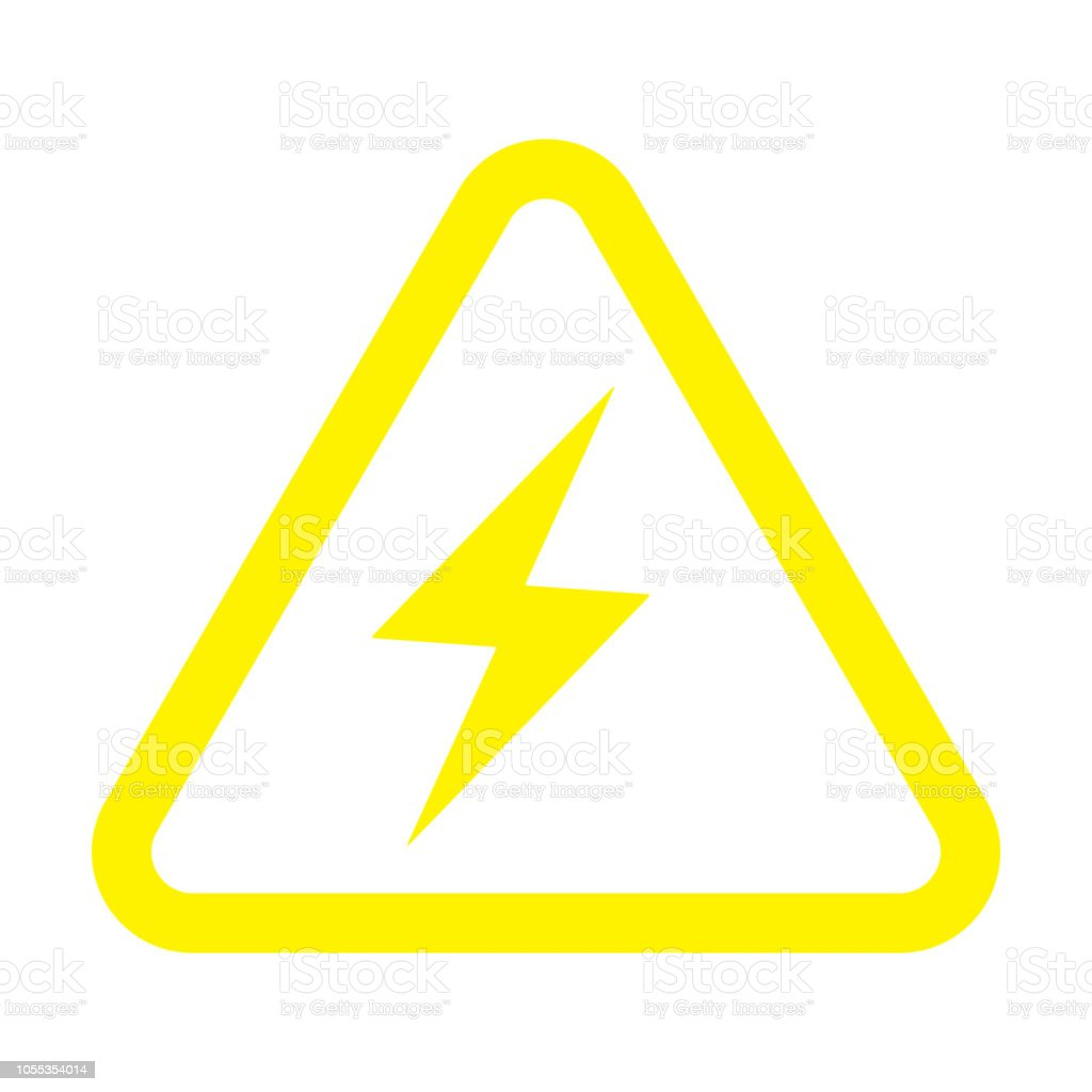 Electrical Hazard Electrical Warning Sign Stock Vector Art More