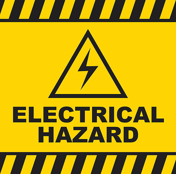 Electrical Hazard warning sign Vector of Electrical Hazard warning sign. EPS ai10. high voltage sign stock illustrations
