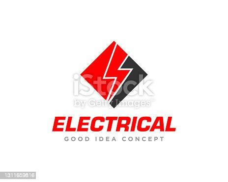 istock Electrical Logo Design Vector 1311659816