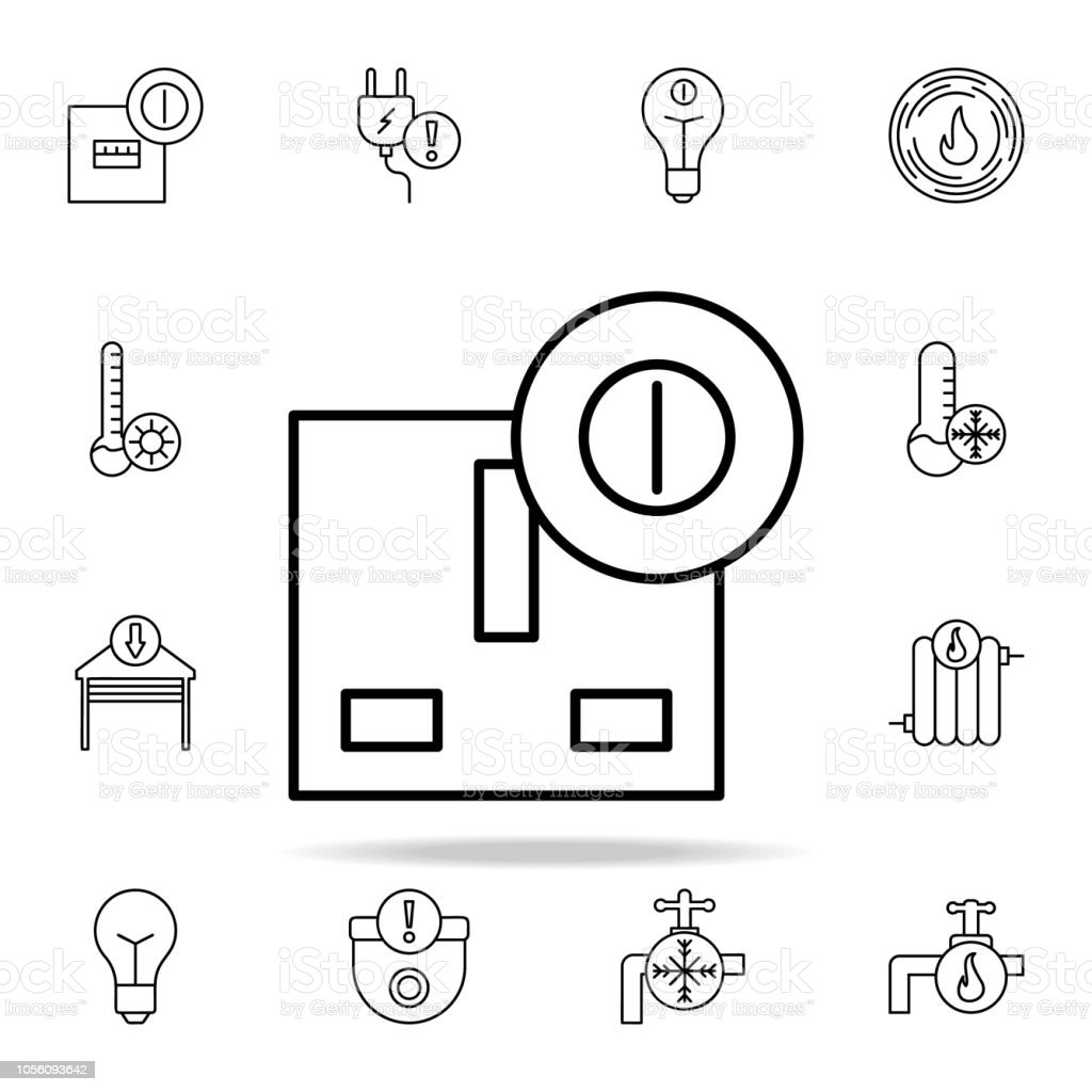 electrical outlet icon. Automation icons universal set for web and mobile vector art illustration