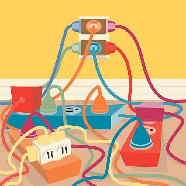 illustrations, cliparts, dessins animés et icônes de prise électrique - rallonge électrique