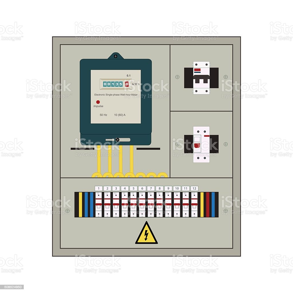 Cartoon Fuse Box Wiring Schematic Diagram V Star 950 Electrical Panel Clip Art Breaker