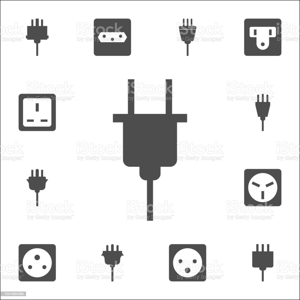Electrical Plug Icon Web Icons Universal Set For Web And Mobile
