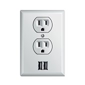 Electrical power socket with USB