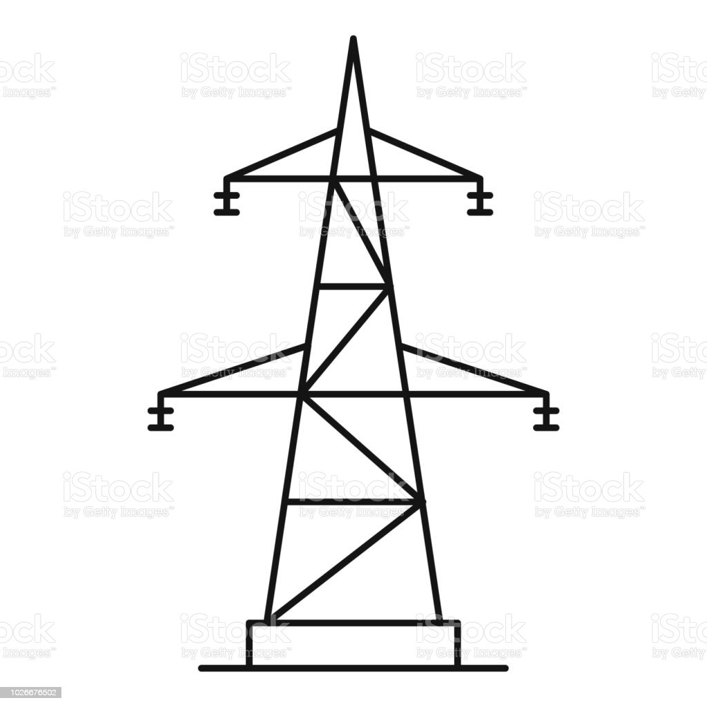 best electricity pylon illustrations  royalty