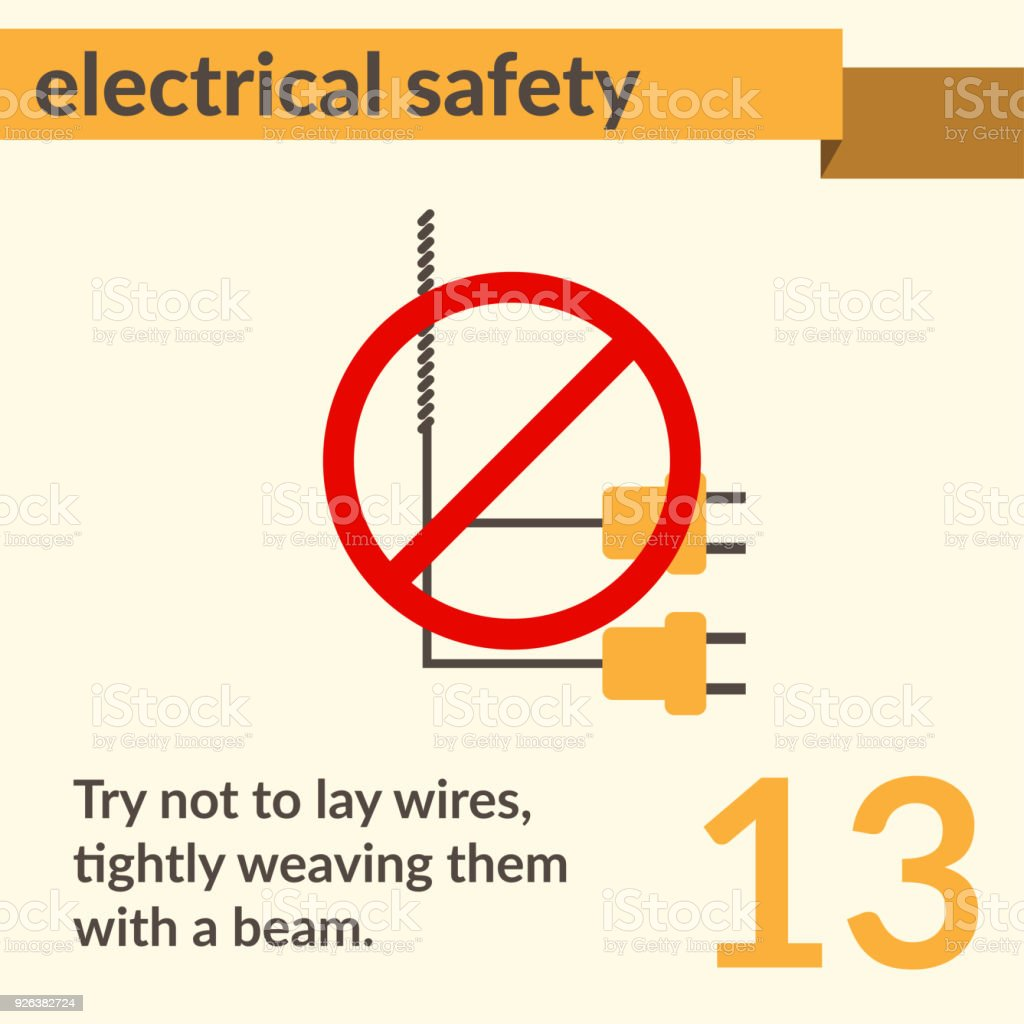 Electrical Safety Simple Vector Art Poster Stock Vector Art More