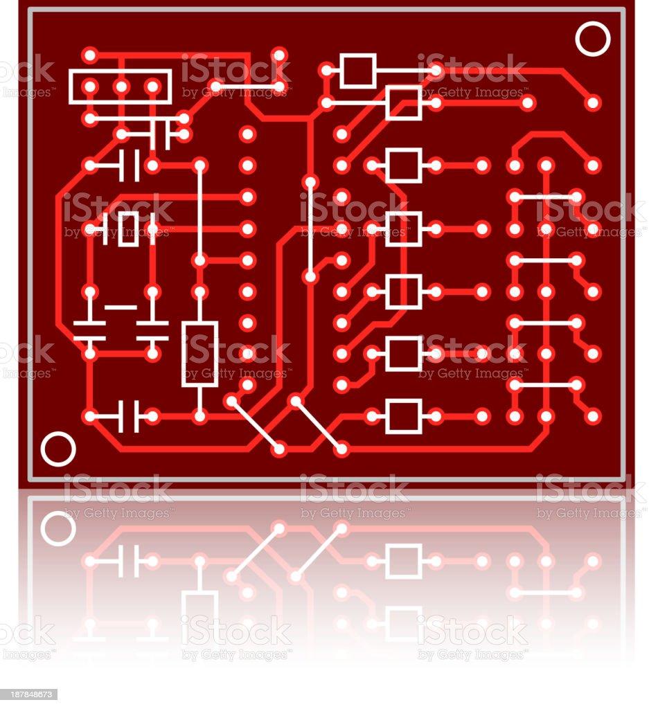 Schemi Elettrici Di Circuiti : Schema elettrico di colore rosso scheda di circuiti immagini