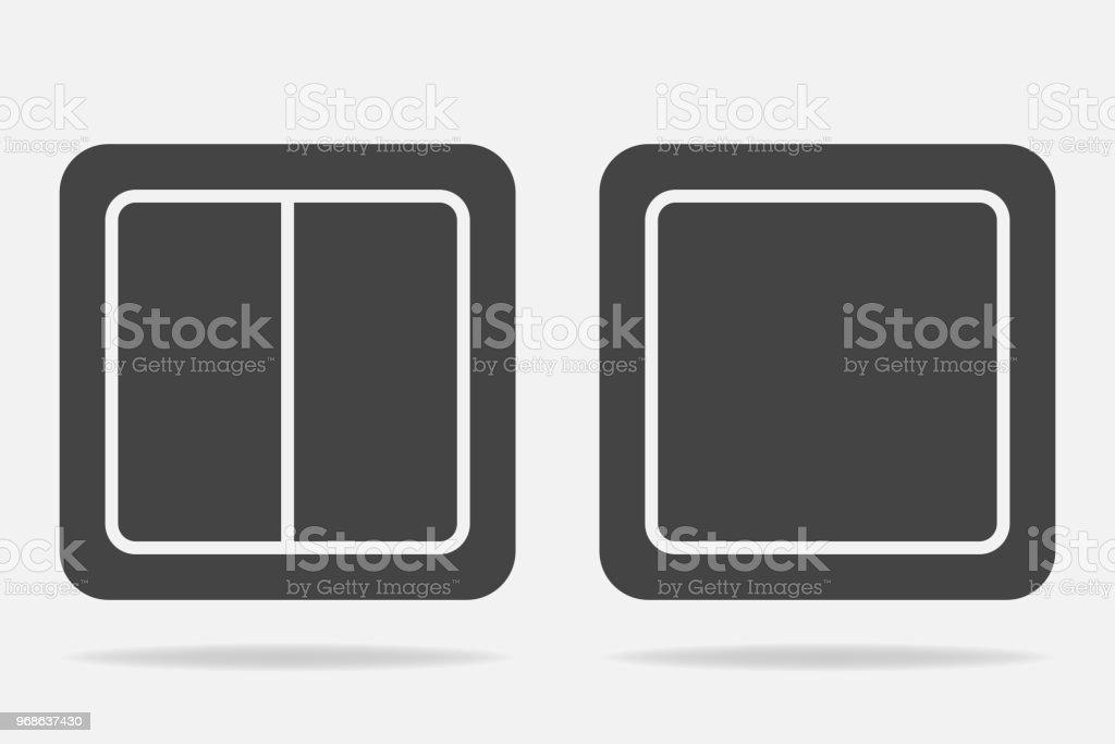 Elektrische Schalter Vektor Icon Lichtschaltersymbol Stock Vektor ...