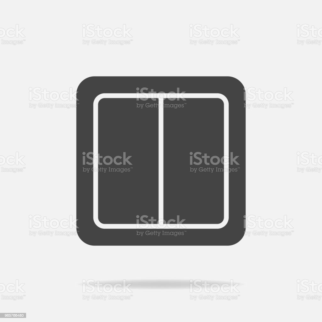 Electrical switch vector icon. Light switch icon. - Royalty-free Authority stock vector