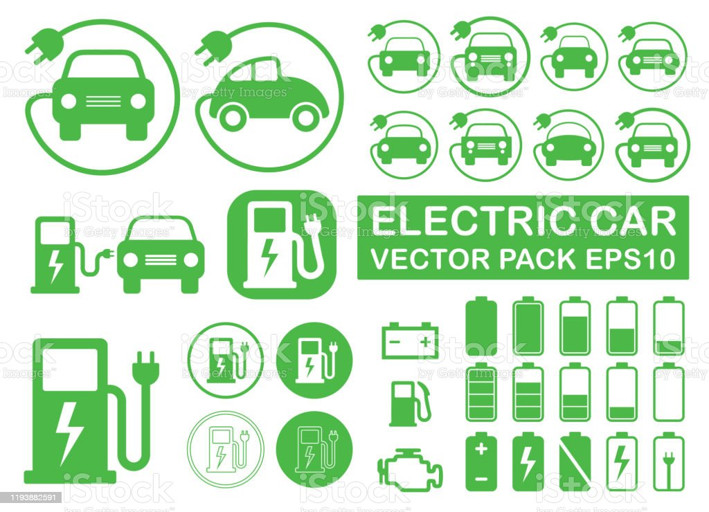 Electrical vehicle road charging station symbol icon set. Electric car logo sign button collection. Eco transport traffic energy power charge. Vector illustration image. Isolated on white background. Electrical vehicle road charging station symbol icon set. Electric car logo sign button collection. Eco transport traffic energy power charge. Vector illustration image. Isolated on white background. Alternative Fuel Vehicle stock vector
