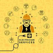 Electrician services concept design.